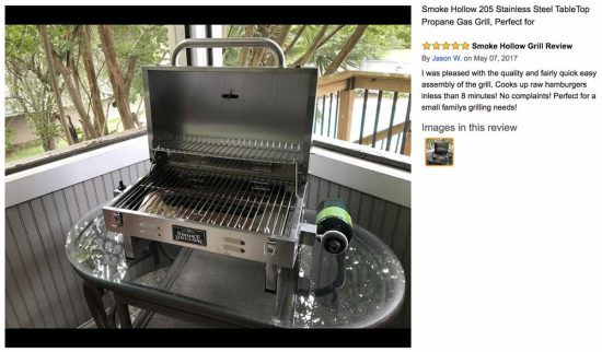 portable gas grills smoke hollow 205 portable tabletop gas grill