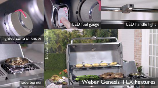 weber spirit vs. genesis II LX features