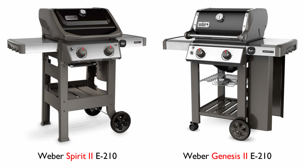 weber spirit vs. genesis grill comparison e-210