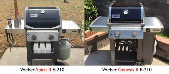 weber spirit vs. genesis with propane tanks