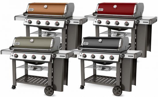 weber spirit vs. genesis II e-410 colors