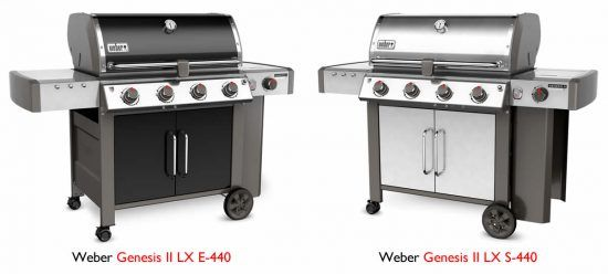 weber spirit vs. genesis II lx grill features
