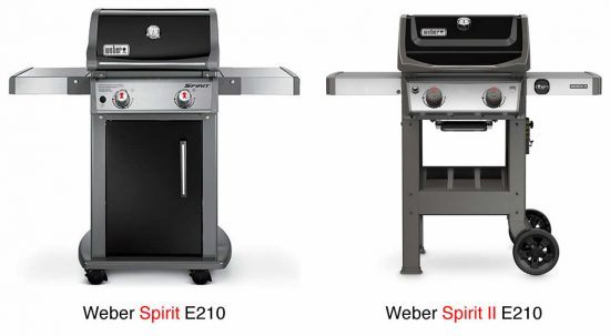 weber gas grill review comparison of weber spirit e210 and weber spirit ii e210