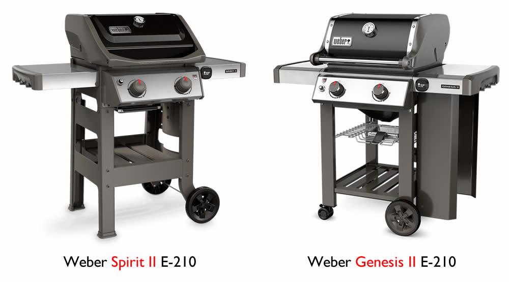 weber spirit vs. genesis grill comparison e-210