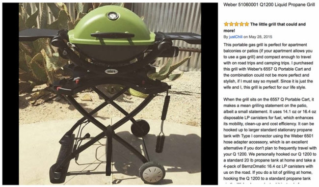 Weber Q1200 portable gas grill review