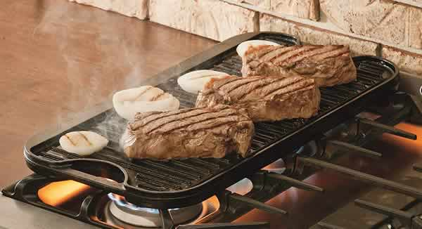lodge cast iron stovetop griddle