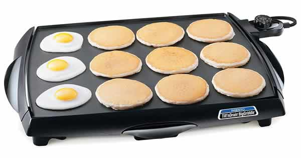 presto tilt n drain large electric griddle